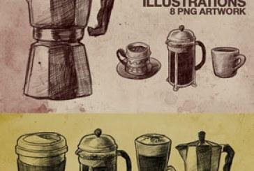 دانلود فایل لایه باز تصاویر قهوه ساز – ترسیمی
