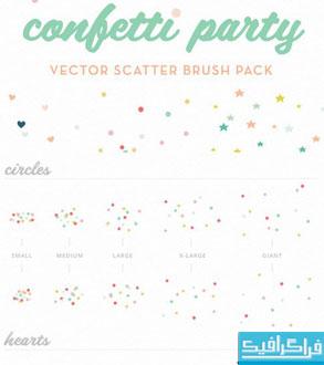 دانلود براش های فتوشاپ کاغذ رنگی جشن