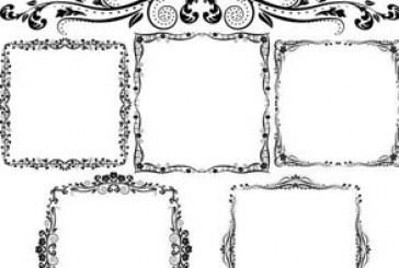 دانلود وکتور قاب های تزئینی قدیمی – شماره 2