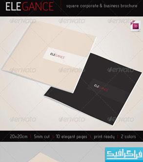 فایل لایه باز این دیزاین بروشور مربعی شرکتی-تجاری
