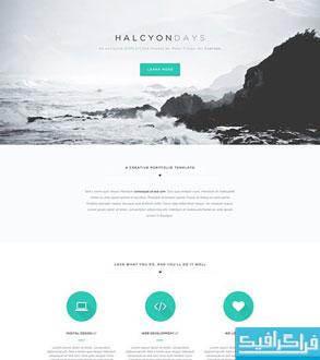 دانلود قالب psd سایت تک صفحه ای Halcyon