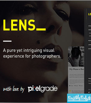دانلود پوسته وردپرس عکاسی Lens