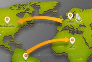 دانلود فایل لایه باز نقشه جهان