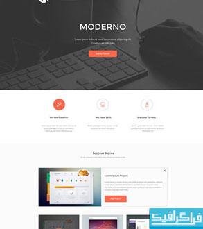 دانلود قالب psd تک صفحه ای Moderno