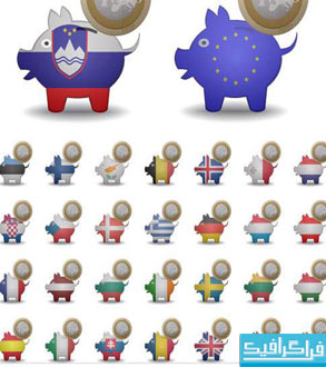 دانلود وکتور نماد های پول یورو