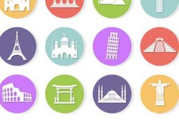دانلود آیکون بنا های تاریخی جهان