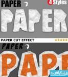 دانلود اکشن فتوشاپ افکت بُرش کاغذ