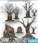 دانلود مدل سه بعدی درخت های ترسناک