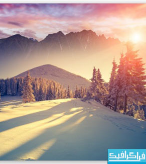 دانلود والپیپر غروب زمستان
