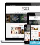 دانلود پوسته وردپرس خبری-مجله Voice