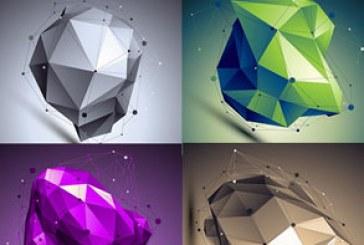 وکتور طرح های هندسی سه بعدی انتزاعی