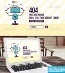 دانلود فایل لایه باز صفحه 404 سایت - طرح روبات