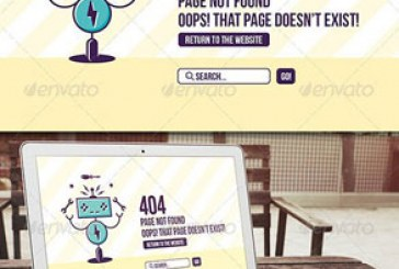 دانلود فایل لایه باز صفحه 404 سایت – طرح روبات