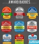 دانلود فایل لایه باز نشان های جایزه
