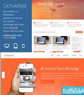 دانلود قالب سایت HTML چند منظوره - Catharsis