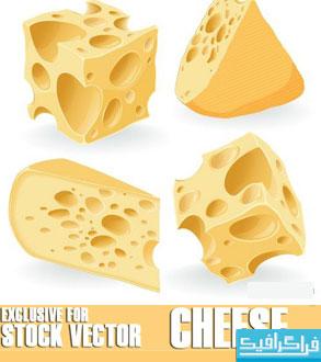 دانلود وکتور طرح های پنیر