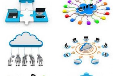 تصاویر استوک شبکه های کامپیوتری ابری