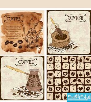 دانلود وکتور های پس زمینه قهوه - شماره 2