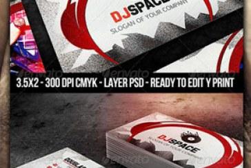 دانلود کارت ویزیت طرح DJ موزیک