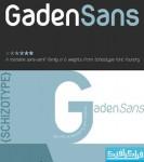 دانلود فونت انگلیسی Gaden Sans