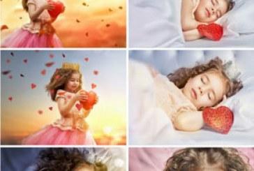 دانلود تصاویر استوک دختر خردسال با قلب