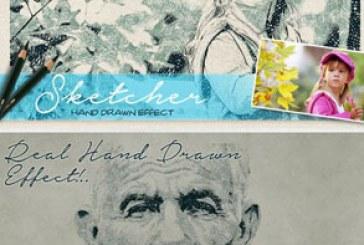 اکشن فتوشاپ افکت نقاشی مداد با دست – شماره 2