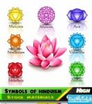 دانلود وکتور اشکال و نماد های آیین هندو
