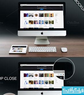 دانلود ماک آپ فتوشاپ iMac و iPad