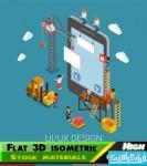 دانلود آیکون های ایزومتریک 3D - طرح تخت