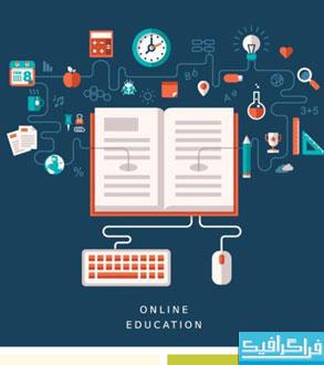 دانلود وکتور طرح های تحصیلات آنلاین