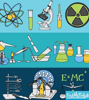 دانلود وکتور طرح های علمی