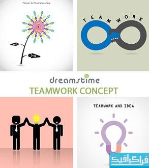 دانلود وکتور های کار تیمی - مفهومی