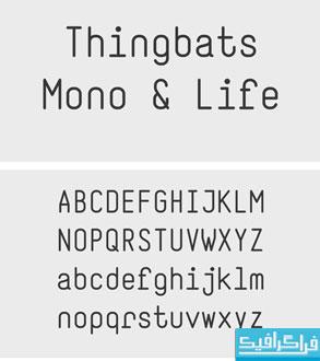 دانلود فونت انگلیسی ساده Thingbats