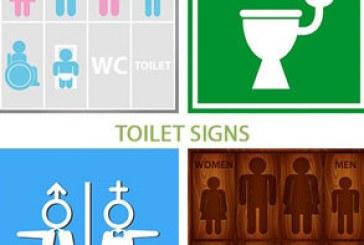 دانلود وکتور علامت های توالت – Toilet