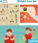 دانلود وکتور های کاهش وزن