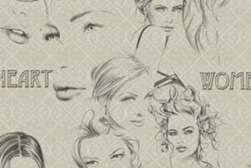 دانلود براش های فتوشاپ زن – طرح هنری
