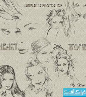 دانلود براش های فتوشاپ زن - طرح هنری