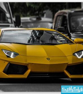 والپیپر اتومبیل لامبورگینی زرد