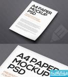 دانلود ماک آپ فتوشاپ کاغذ A4