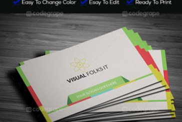 دانلود کارت ویزیت رنگارنگ – شماره 3