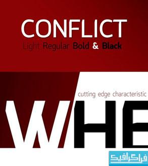 دانلود فونت انگلیسی Conflict