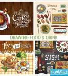 وکتور طرح های ترسیمی غذا و نوشیدنی