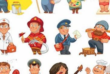 دانلود وکتور شخصیت های کارتونی بامزه – شماره 3