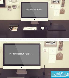 دانلود ماک آپ فتوشاپ کامپیوتر iMac - آی مک