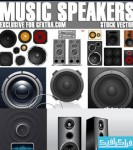 دانلود وکتور طرح های بلندگو موزیک