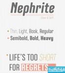 دانلود فونت انگلیسی Nephrite