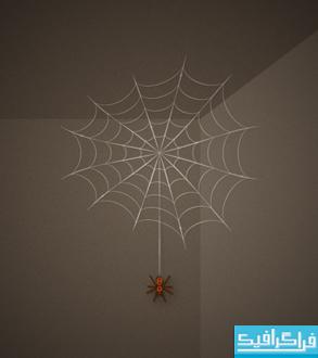 آموزش ایلوستریتور ساخت تار عنکبوت