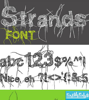 دانلود فونت انگلیسی گرافیکی Strands