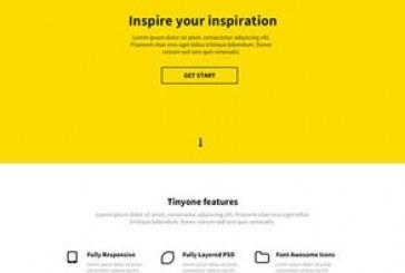دانلود قالب سایت psd تک صفحه ای Tinyone