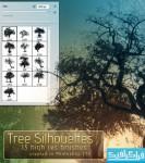 دانلود براش های فتوشاپ درخت - Trees Brush